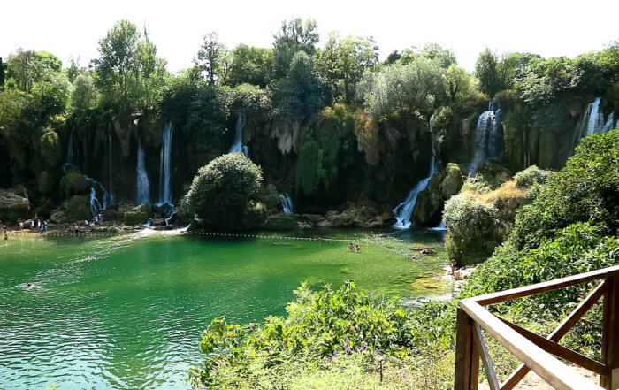 Kravice Falls from Overlook
