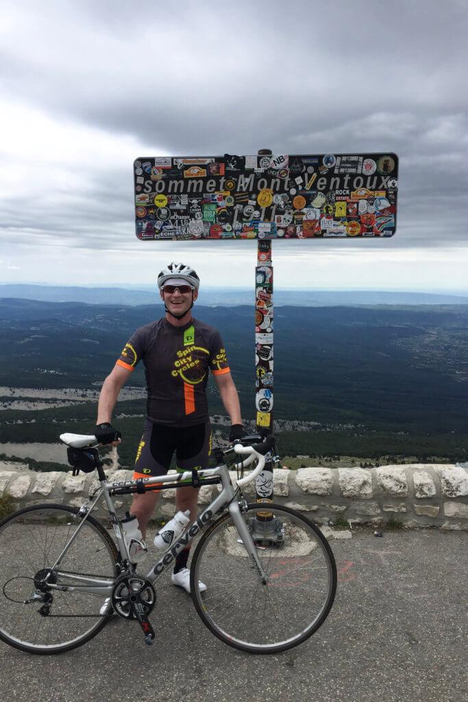 Andrew on Mont Ventoux