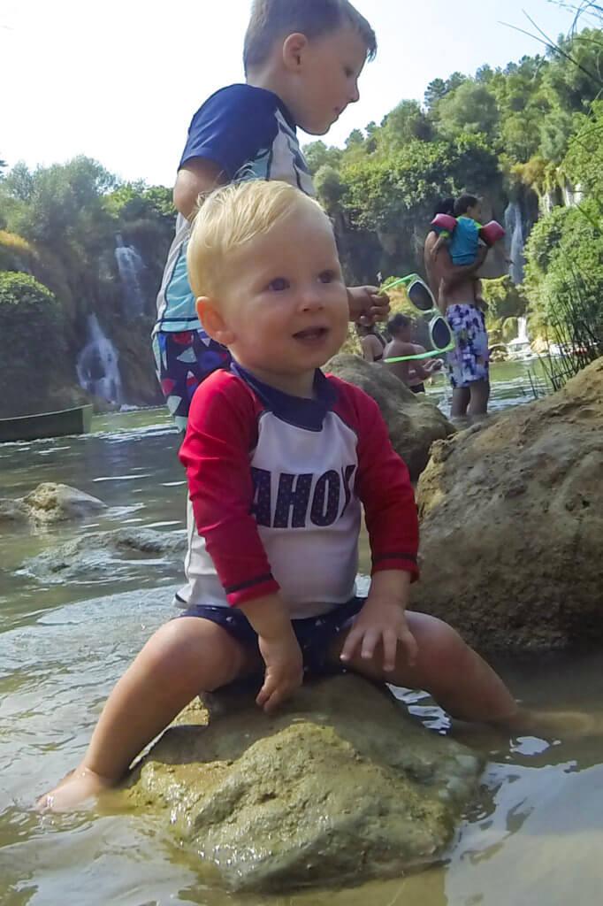 Benjamin at Kravice Falls