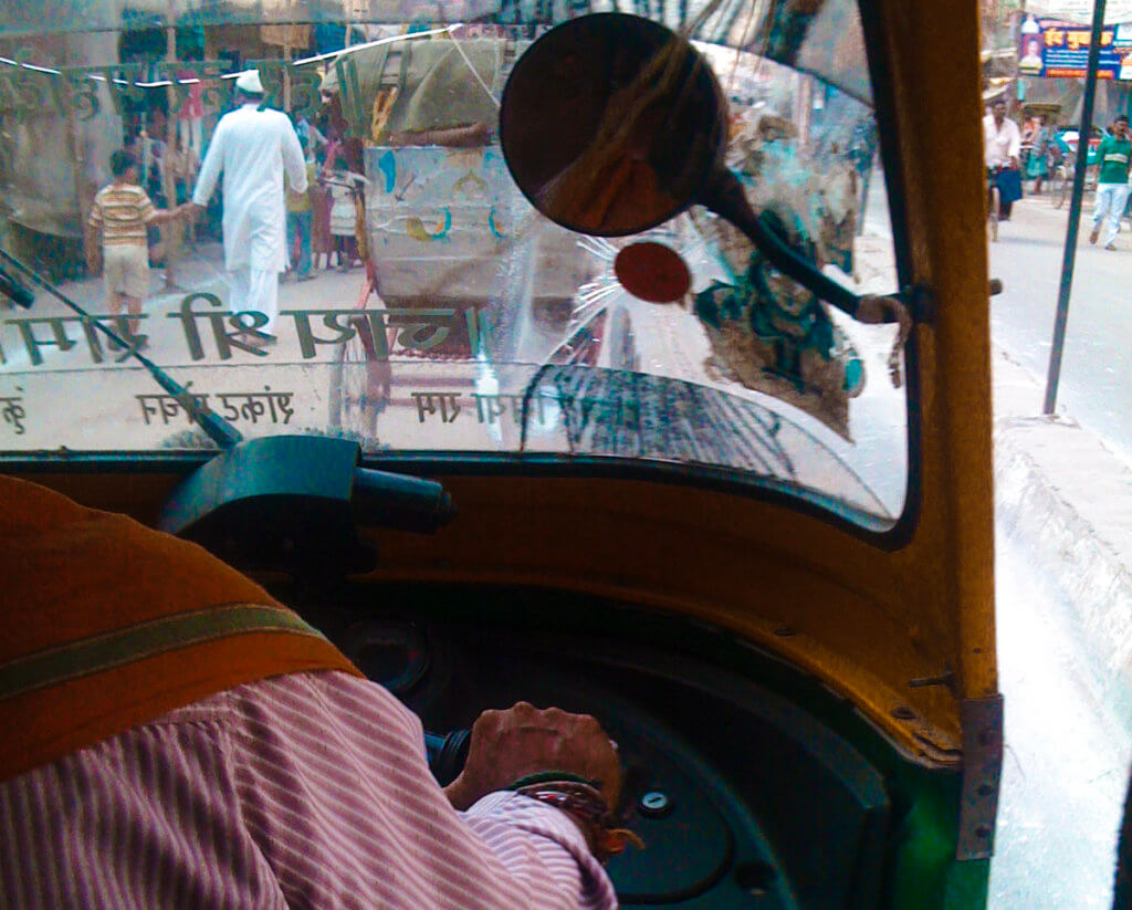 View from the tuk tuk in India