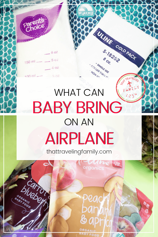 What can Baby Bring on an Airplane
