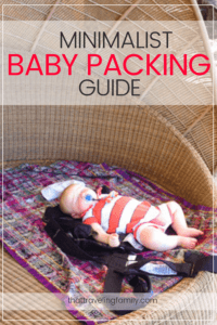 minimalist baby packing guide