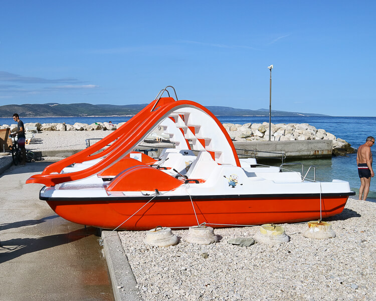 Paddle Boats in Brela, Croatia