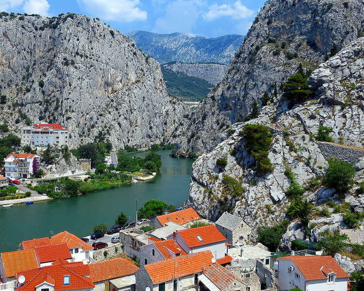 Omis and the Cetina River, Croatia