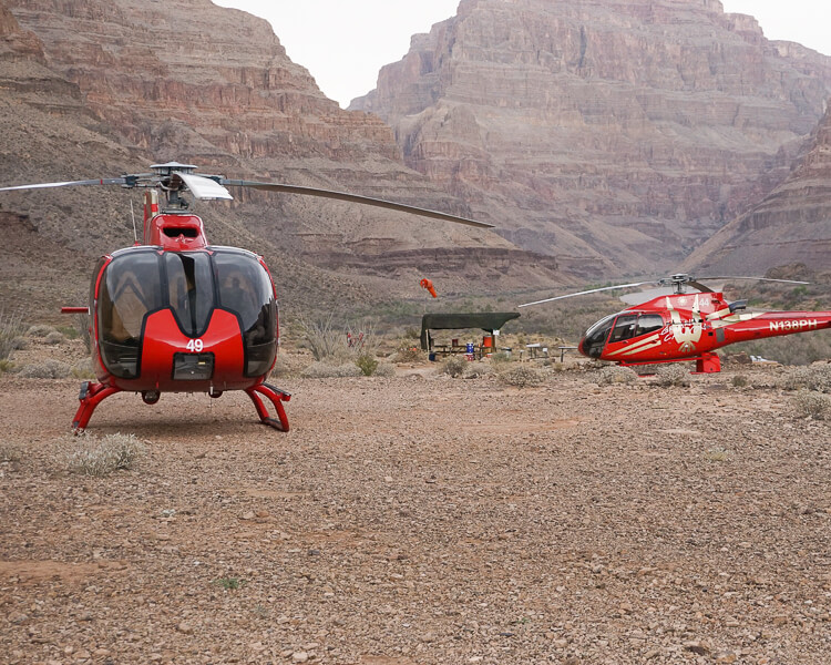 Helicopters in the Grand Canyon