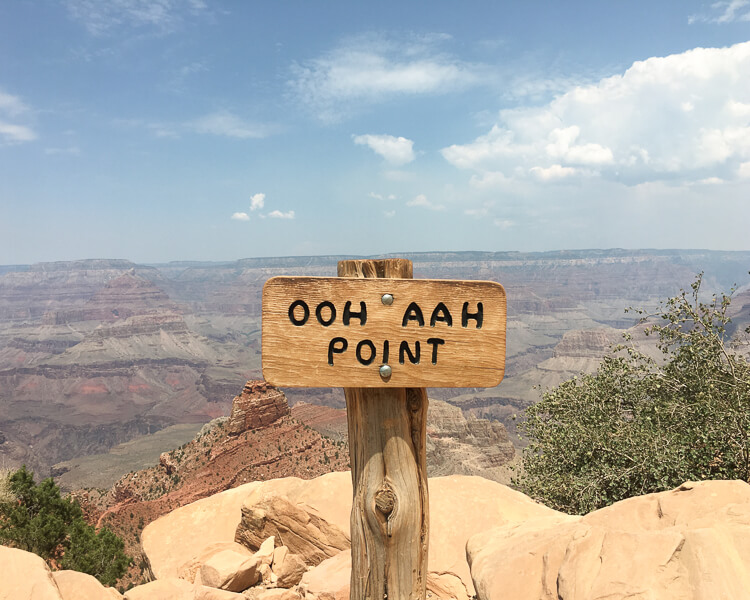 Ooh Aah Point on the South Kaibab Trail at the Grand Canyon