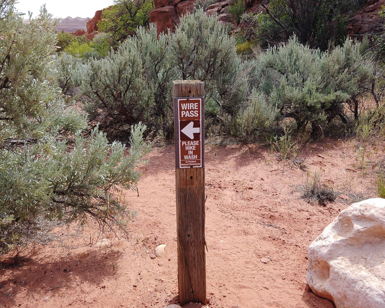 Wire Pass Trail Sign