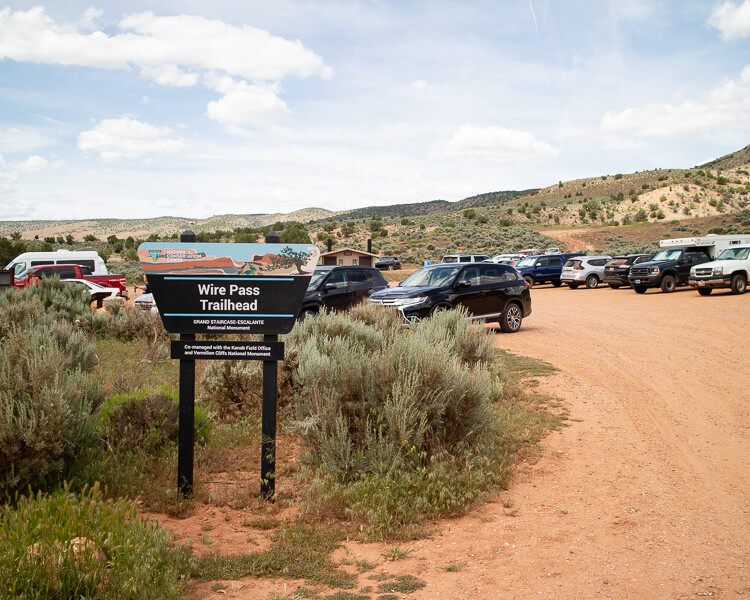 Wirepass Trailhead Parking Lot
