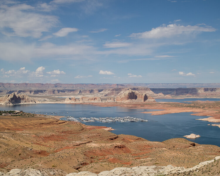 View of Lake Powell from Wahweap Scenic Overlook