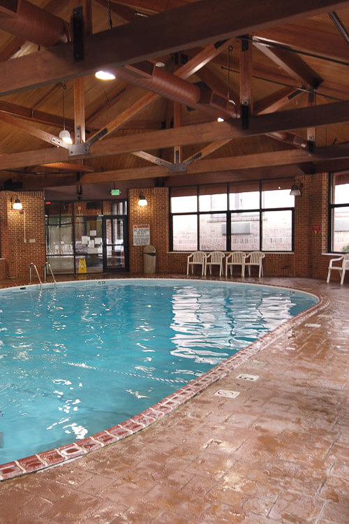 Indoor pool at Turkey Run Inn and Cabins