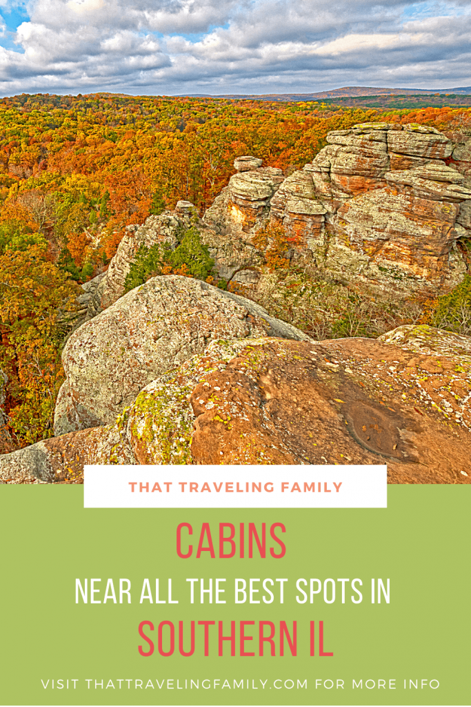 Photo of Garden of the Gods, Text Overlay, Cabins near all the best spots in Southern IL